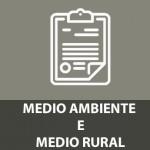 MEDIO AMBIENTE E MEDIO RURAL